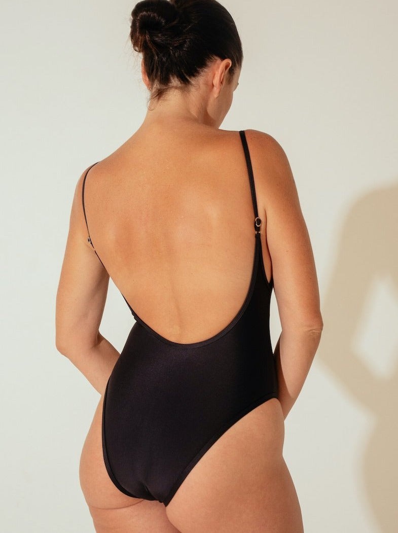 Innes Lauren One-piece in Ribbed Black