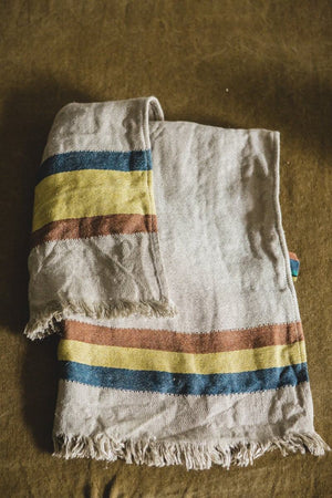 Libeco Linen Fouta - Mercurio Stripe  - 3 Sizes -