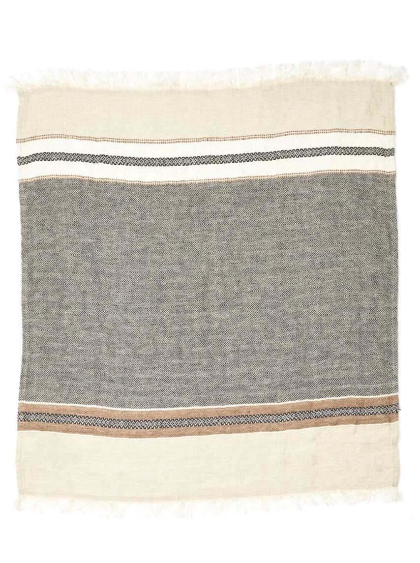 Libeco Linen Fouta - Beeswax Stripe  - 3 Sizes -