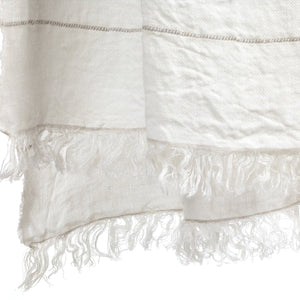 Libeco Linen Fouta - Oyster Stripe  - 3 Sizes -