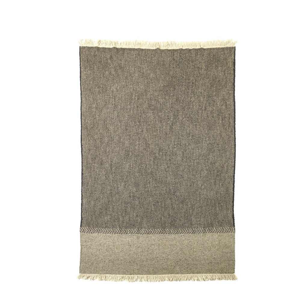 Libeco Jules Black Herringbone Throw 130 x 220cm