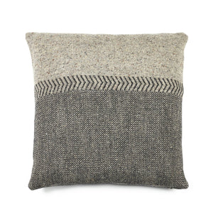 Libeco Jules Black Herringbone Cushion 63 x 63cm