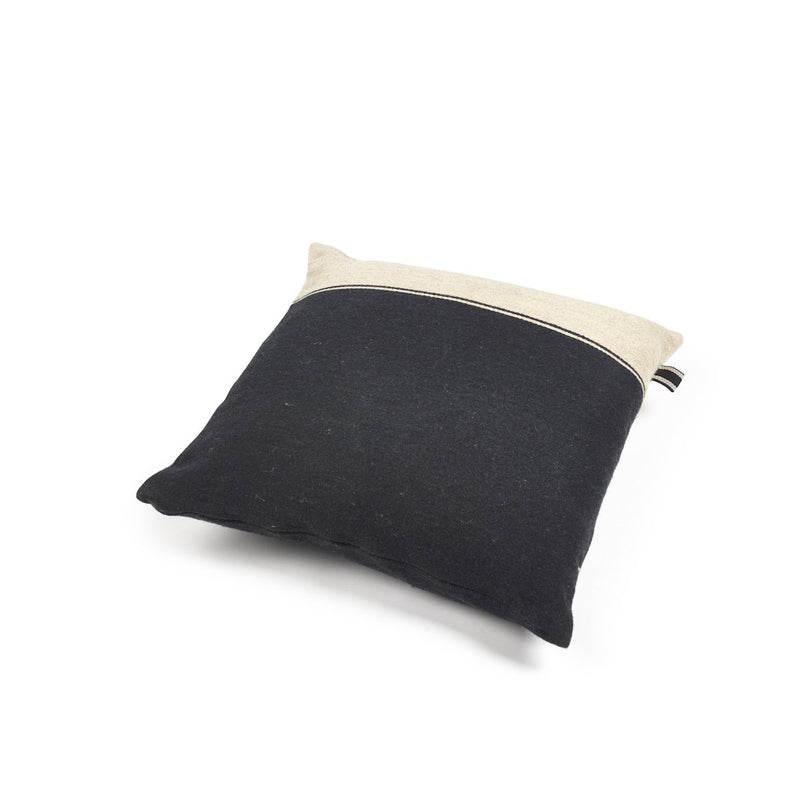 Libeco Marshall Cushion Black Flax 50 x 50cm