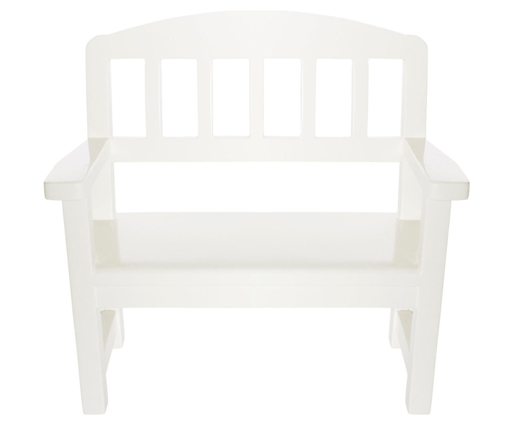 Maileg Wooden Bench Off White Mini