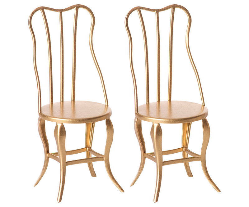 Maileg Set of 2 Gold Chairs