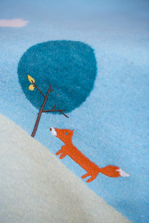David Fussenegger Bassinet Blanket - Fox