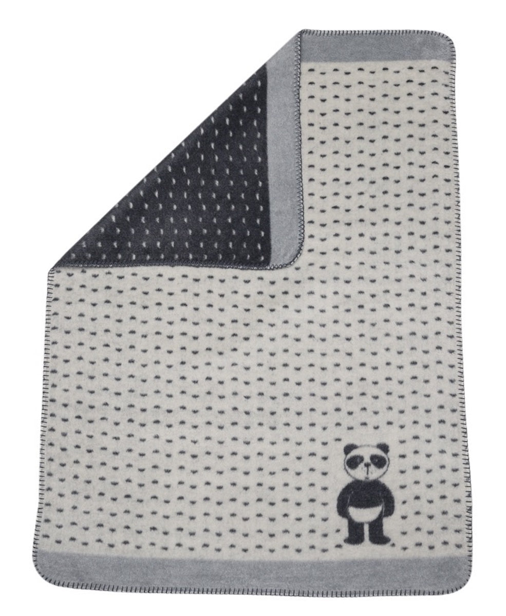 David Fussenegger Bassinet Blanket - Panda Bear