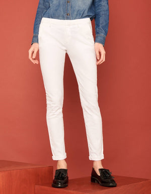 Reiko 'Sandy 2' White Chino Trousers