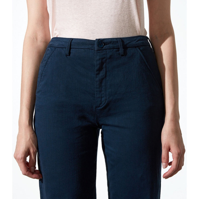 Reiko - Sandy High Waisted Cropped Chino in Navy