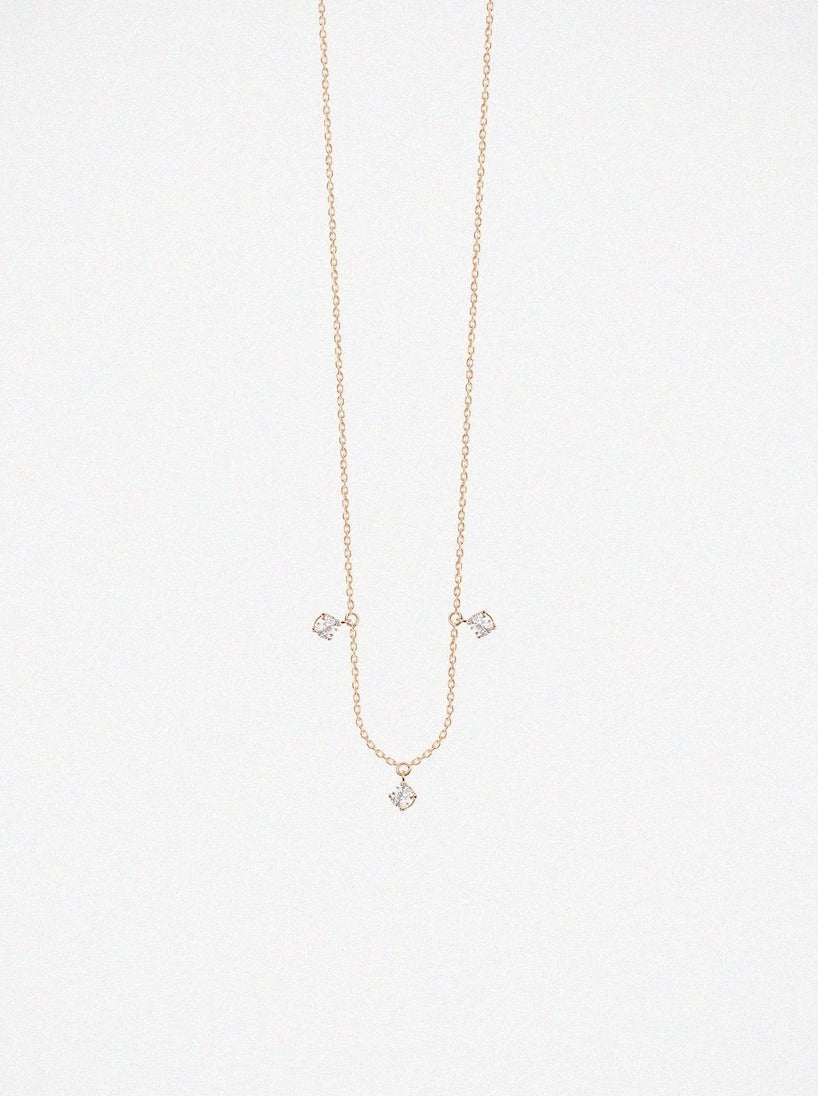Vanrycke Stardust 3 Rose Gold Necklace