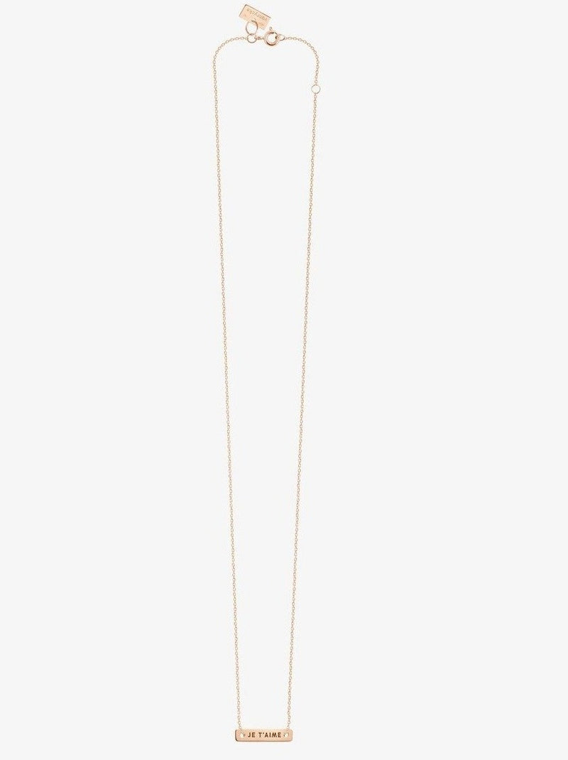 Van Rycke Bonnie & Clyde Je T'aime Rose Gold Necklace