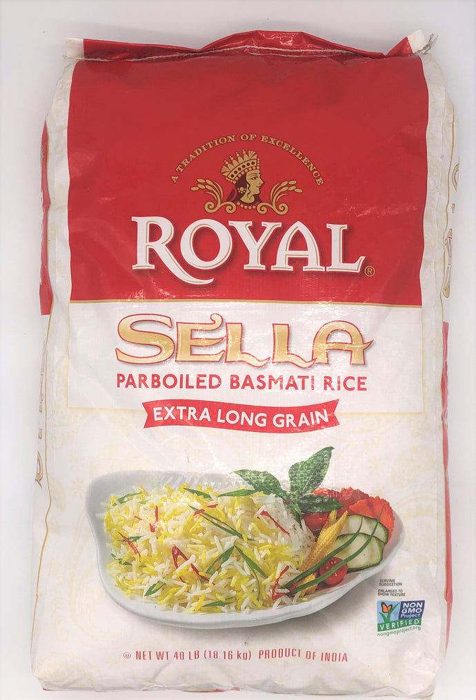 Royal Sella Parboiled Basmati Rice 40 Lb