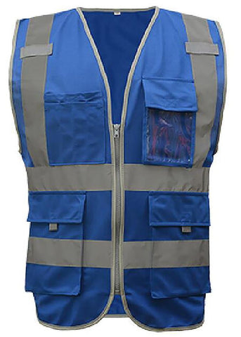 Premium blue safety vest-The Premium World
