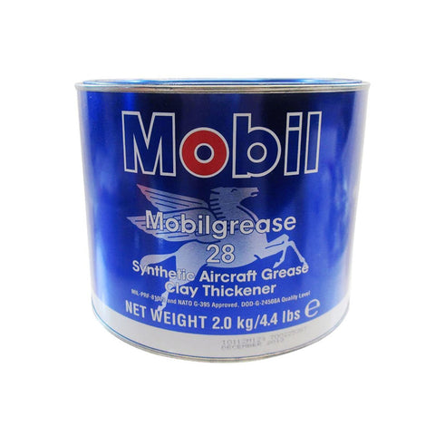 "Premium Mobil grease 28 Synthetic Aircraft Grease Red, ""4.4 lb "" can"
