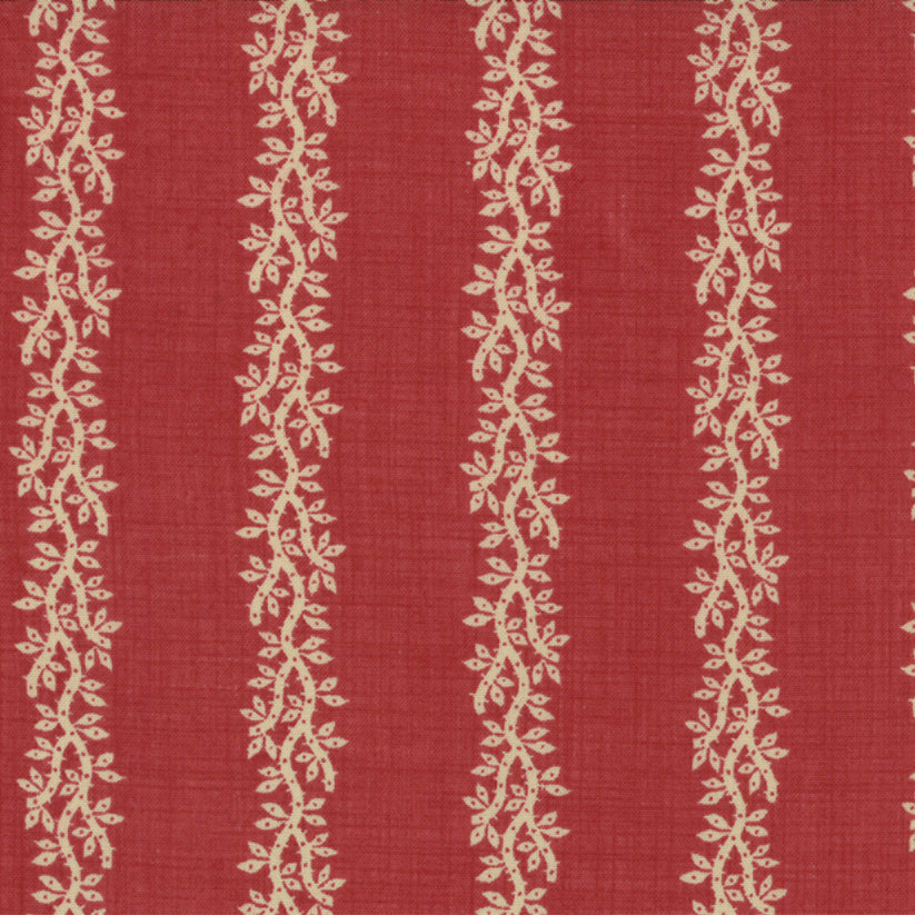 French General French Warm Red with Oyster Vine - M13578.14 - Stitches from the Bush