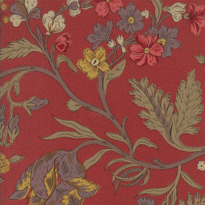 French General Warm Red Large Floral FAT EIGHTH - M13650.11 - Stitches from the Bush