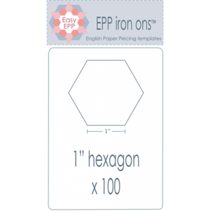 "1"" Hexagon EPP Iron On Papers - Stitches from the Bush"
