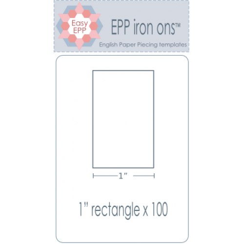 "1"" x 2"" Rectangle EPP Iron On Papers - Stitches from the Bush"