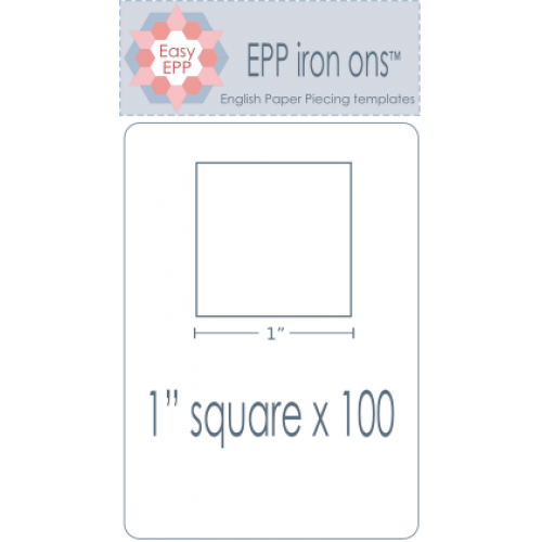 "1"" Square Joiner EPP Iron On Papers - Stitches from the Bush"