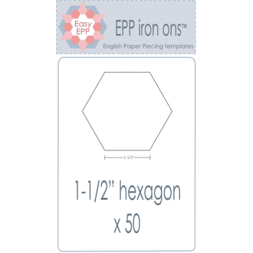 "1 1/2"" Hexagon EPP Iron On Papers - Stitches from the Bush"