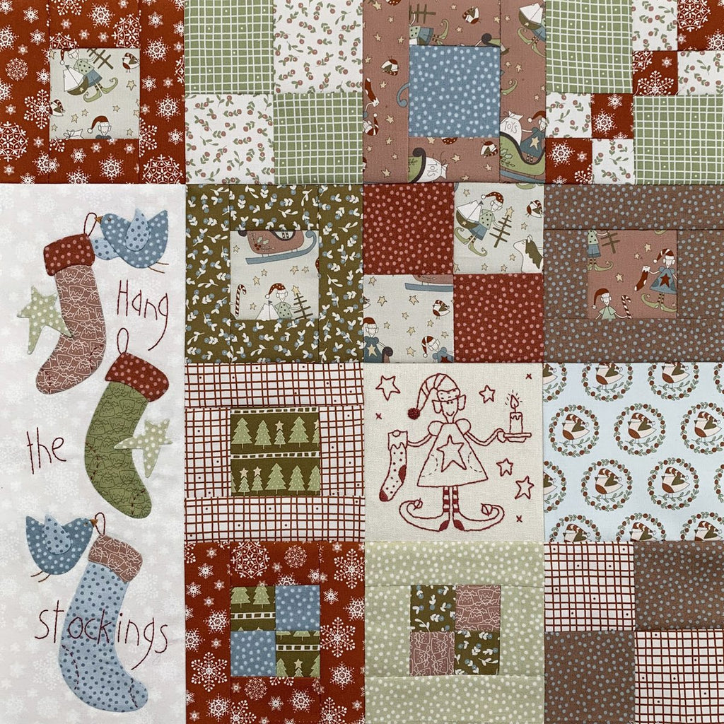 'Make Ready for Christmas' Quilt Starter Kit - A Birdhouse Design