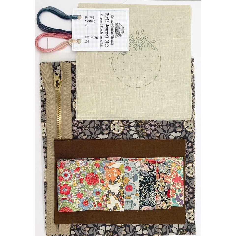 CGT Field Journal & Zippered Pouch Pattern & Fabric Kit - OPTION - Stitches from the Bush