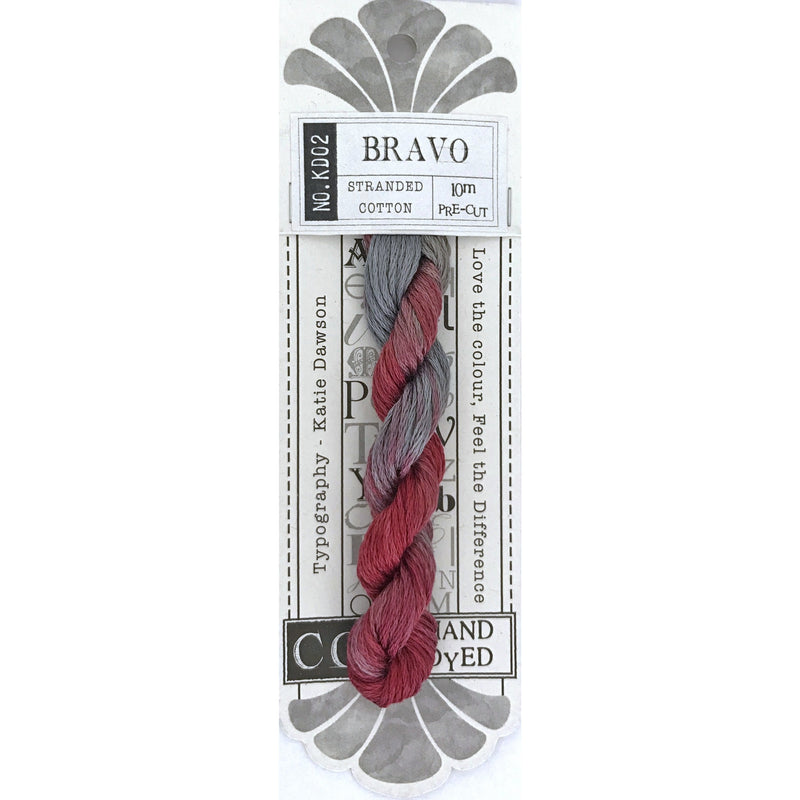 KD02 Bravo - Typography Range CGT - Stitches from the Bush