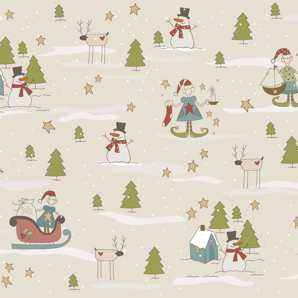 Make Ready for Christmas Print on Cream Background - The Birdhouse DV3290