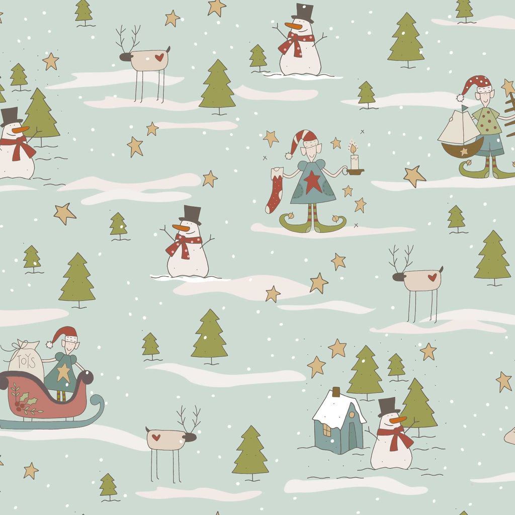 Make Ready for Christmas Print on Light Blue Background - The Birdhouse DV3291