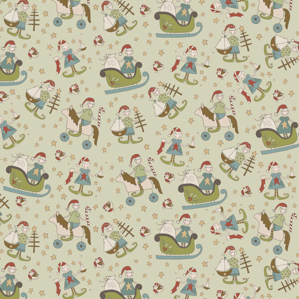 Make Ready for Christmas Print on Green Background - The Birdhouse DV3293