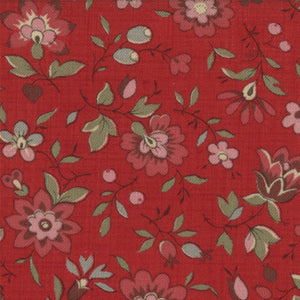 French General Rouge Floral FAT EIGHTH - M13633-12 - Stitches from the Bush