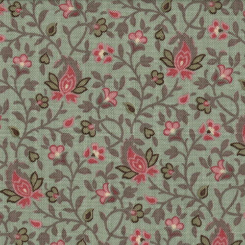 French General Verde Med Floral  - M13665-13 - Stitches from the Bush