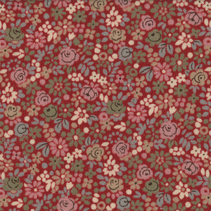 French General Rouge Tiny Floral - M13637-12 - Stitches from the Bush