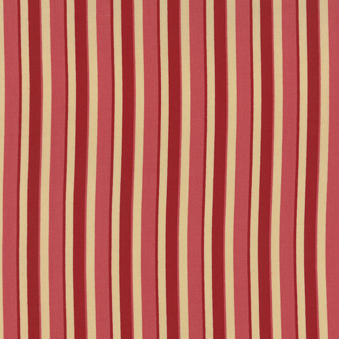French General Cream Rose and Rouge Stripe - M13676-11 - Stitches from the Bush
