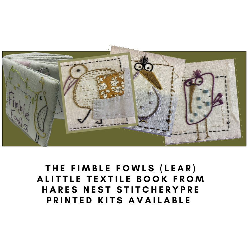 The Fimble Fowles - The Booklet ... Starter Kit - Hare's Nest Stitchery Kit