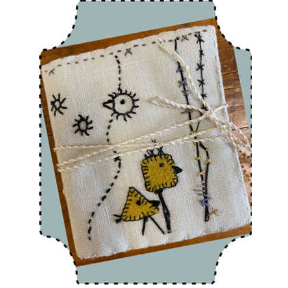 The Thorn Stitch Birds Needlecase - A Hare's Nest Stitchery