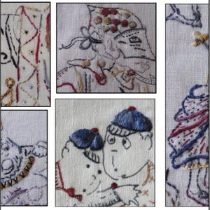'Alice in Wonderland' Starter Kit - Hare's Nest Stitchery Kit - Stitches from the Bush