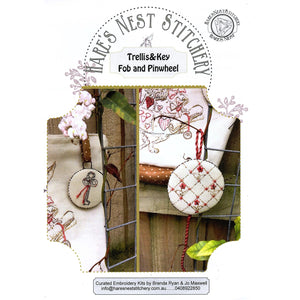 'Trellis & Key Fob and Pinwheel' Starter Kit - Hare's Nest Design - Stitches from the Bush