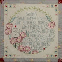 Hearts and Happy Flowers Complet Kit - Leanne's House - Stitches from the Bush