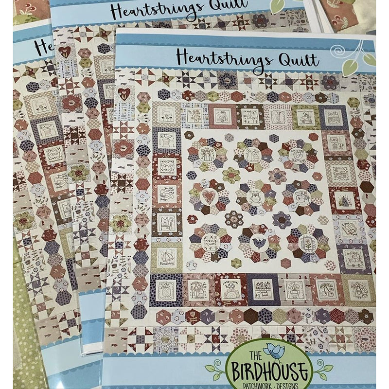 'Heartstrings Quilt' PATTERN ONLY - A Birdhouse Design - Stitches from the Bush