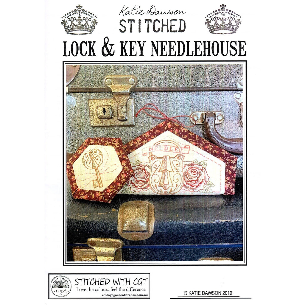 Lock and Key Needle House - Katie Dawson Stitched Pattern - Stitches from the Bush