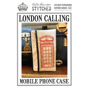 London Calling Zippered Case - Katie Dawson Stitched Pattern - Stitches from the Bush