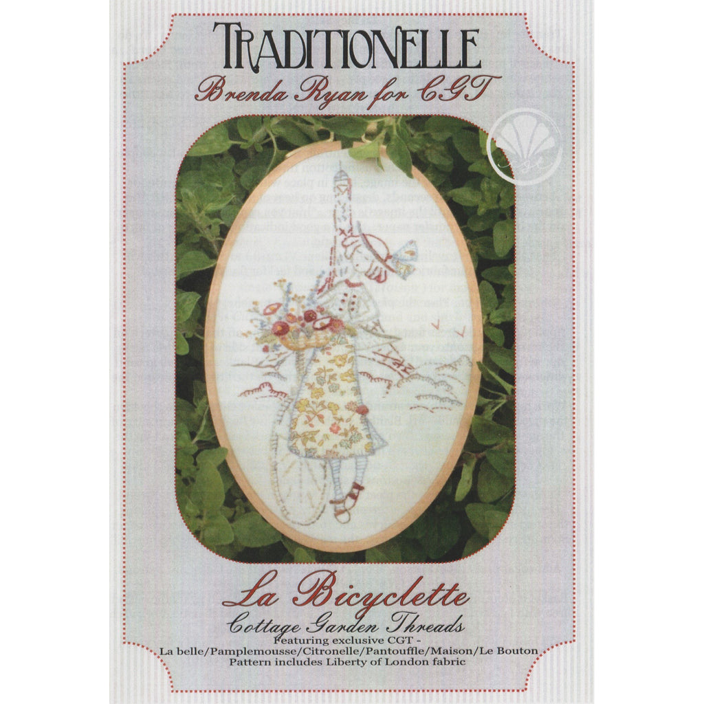 La Bicyclette  - Traditionelle Stitchery Pattern - Stitches from the Bush