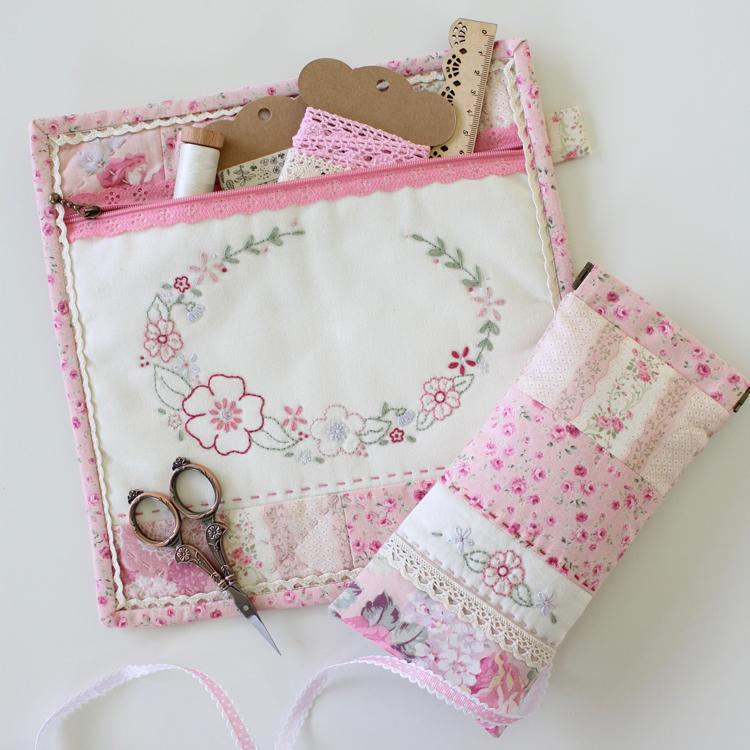 Spring Fling Pouch Set - Molly & Mama Design - Stitches from the Bush