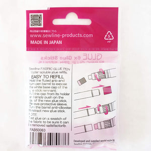 Pack 6 Refills for Sewline Fabric Glue Pen