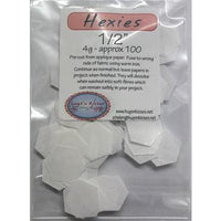 "1/2"" Hexagon EPP Iron On Papers - Stitches from the Bush"