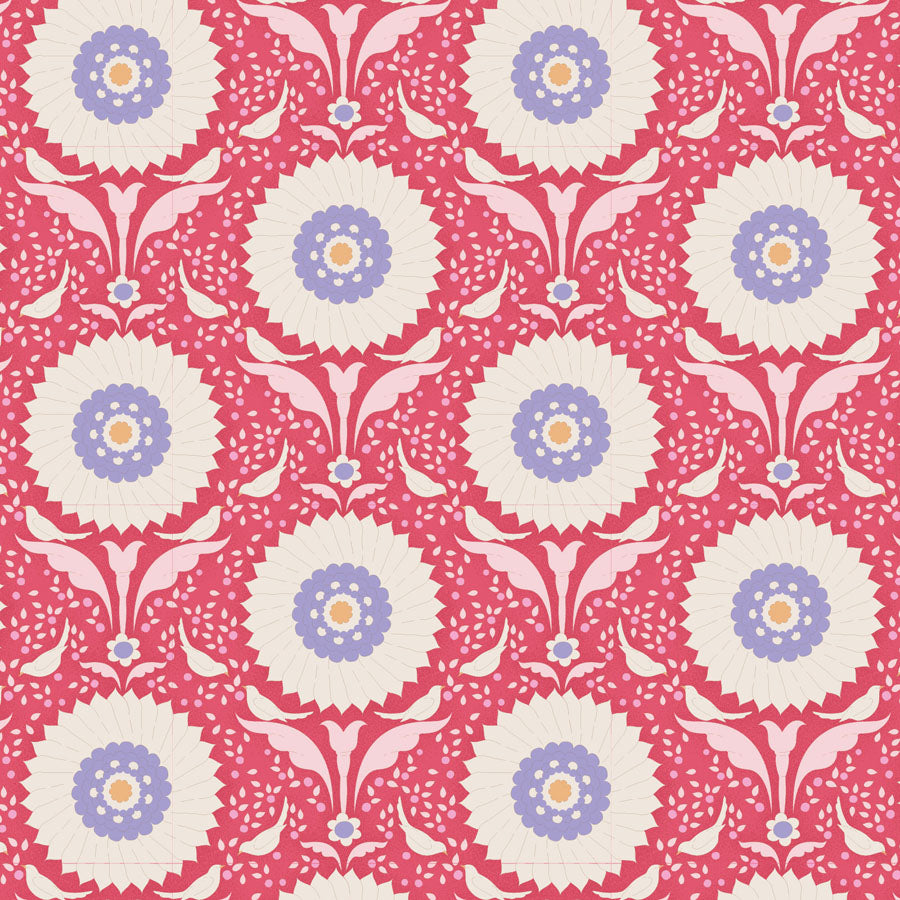 Tilda Bon Voyage Ringflower Red - 100251 - Stitches from the Bush