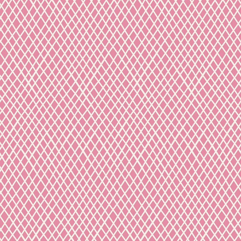 Tilda Classic Basics Crisscross Pink - 130040 - Stitches from the Bush