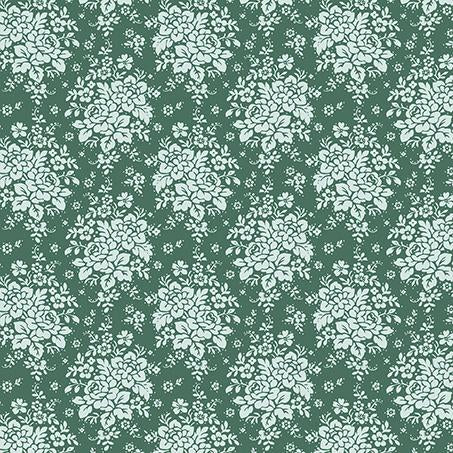Tilda Audrey Ocean Green FAT QUARTER - 481087 - Stitches from the Bush