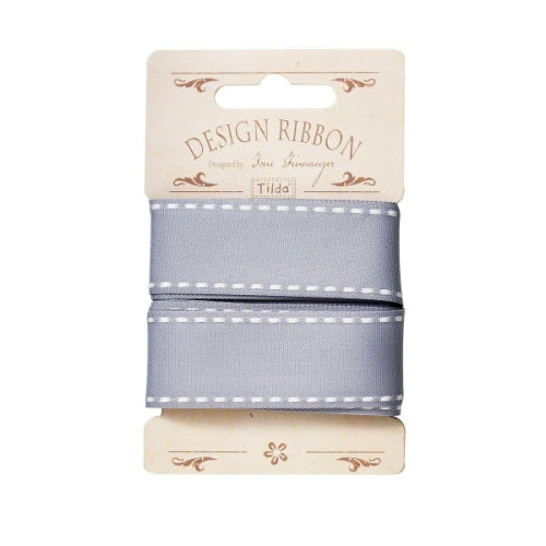 Tilda The Corner Shop Ribbon 'Seams' Bluegrey - 480613 - Stitches from the Bush